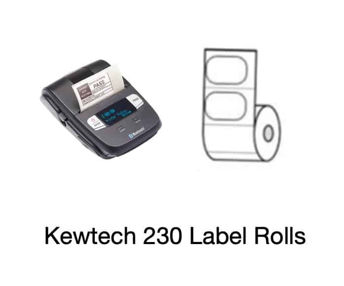 Kewtech PAT Labels 230 Roll 1
