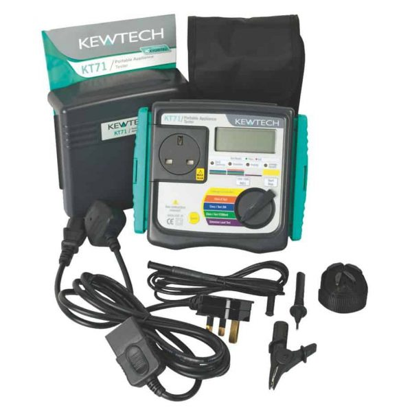 Kewtech KT71 (Includes Calibration, Labels and Clover Adaptor) 1